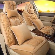 皓邦 HB 冬季舒适短毛绒座垫 汽车坐垫含头枕腰靠 299元