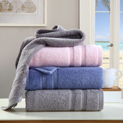 馨牌 长绒棉毛巾 3条装 粉/蓝/灰34*76cm +凑单品 17元 2件5折后 折合4.25元/条'