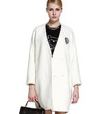 镇店之宝:Five Plus 女式 闪钻宽松中长毛呢大衣 三色可选码全 特价199元到家
