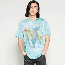 THE MOUNTAIN 可爱的鱼彩虹短袖T恤 70元包邮