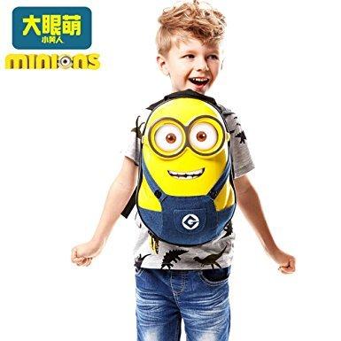 神偷奶爸 小黄人儿童3D双肩背包 *2件 178元(合89元/件)