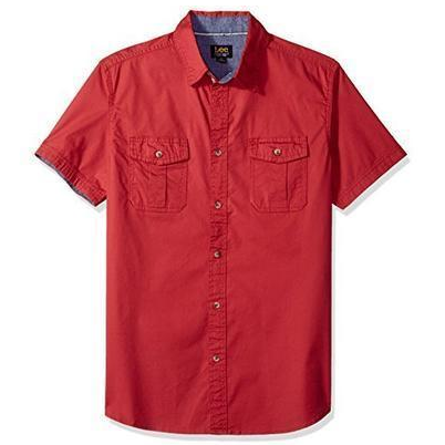 M码起 Lee 李牌 男士 短袖衬衫 13.3美元约¥85 党-聚集的地方
