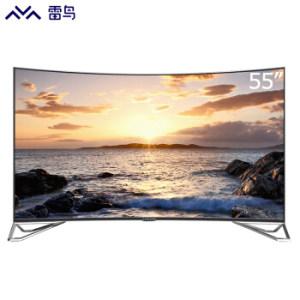 雷鸟FFALCON I55C-UI 55英寸 超薄4K曲面HDR人工智能金属边框 液晶电视 TCL出3299元