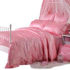 多喜爱婚庆提花四件套床品粉色系套件家纺结婚床上用品情迷花开 399.00元