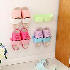 Neyankex 客厅卫浴粘胶挂壁式鞋架 三件装 颜色随机  券后13.9元