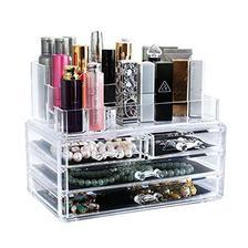 BAOYOUNI宝优妮透明化妆品收纳盒抽屉式 DQ9017-21 圆弧大顶+两个大抽屉+两个小
