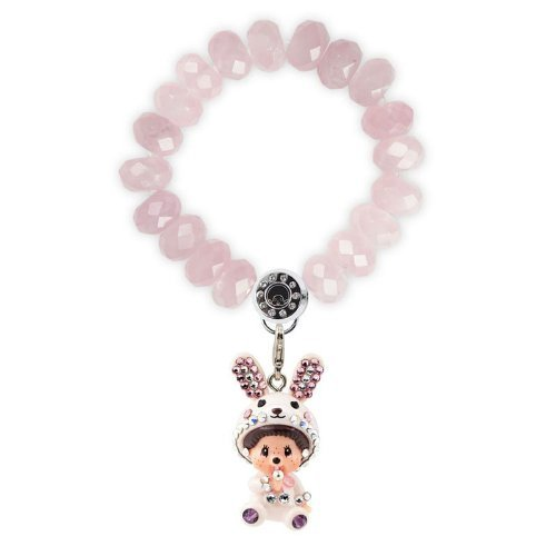 MENGQIQI 蒙奇 小兔粉红晶半宝石 女士手链 284元包邮(需用码)