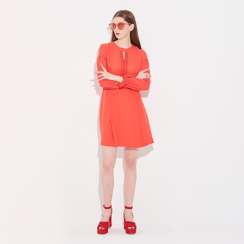 Nine West/玖熙2018夏季新品时尚气质冷淡风连衣裙女3051821704 600元