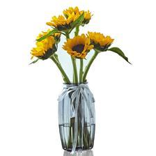 新鲜到家# 天堂鸟 黑芯向日葵家庭插花花束 16.3元包邮(26.3-10券)