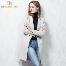 DH 女士双面呢羊绒大衣 100%羊毛 480元包邮 平常680元