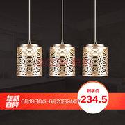 ¥219.5 欧普照明(OPPLE) LED吊灯餐吊灯餐厅吊线灯三头单头灯具 现代简约创意 阑珊 自带光源'