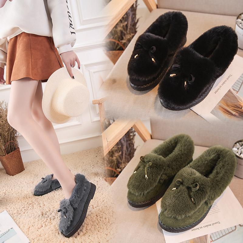 ¥29.8 Coloor&this/彩兹 蝴蝶结毛毛鞋加绒加厚棉鞋 29.8包邮
