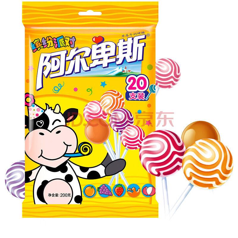 限地区:阿尔卑斯 精选多种口味硬糖棒棒糖(20支装)200克牛奶糖 儿童用糖 休闲零食(新老包装交替发货) *3件 20.58元(合6.86元/件)
