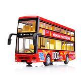 ¥39.9 DODOELEPHANT豆豆象合金声光车模可开门回力车露天巴士/双层巴士儿童玩具车