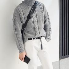 ¥175 24K 简约复古提花高领男士毛衣