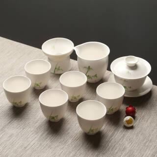 苏氏陶瓷(SUSHI CERAMICS)整套茶具手绘胸有成竹陶瓷茶具套装带礼盒+凑单品  券后116元