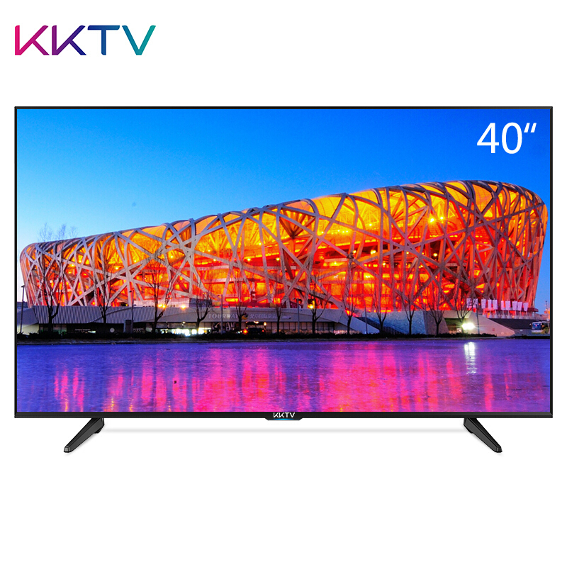 KKTV K40 40英寸全高清智能网络WiFi液晶平板电视机 康佳出品(黑色)¥1488