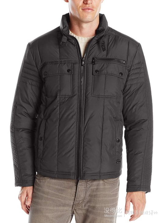 KENNETH COLE New York Quilted Down Hipster 男士羽绒夹克
