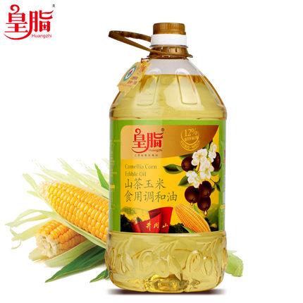 59.9元包邮(99.9-40)皇脂 山茶玉米食用油 非转基因调和油 5L