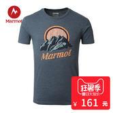 ¥161 MARMOT/土拨鼠男款户外运动时尚印花透气棉质圆领短袖T恤F54190