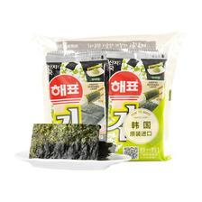 入口即化!海牌韩国进口海苔芥末味2克/袋8袋入 活动好价12.9元含税(需邮