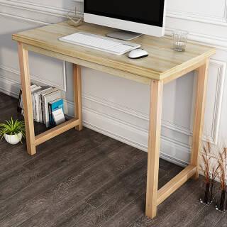 木以成居 电脑桌 实木书桌台式学习桌子 原木色 LY-4058+凑单品 206元
