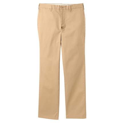 美观舒适!无印良品丝光斜纹棉布弹力修身裤M6SE202 89元