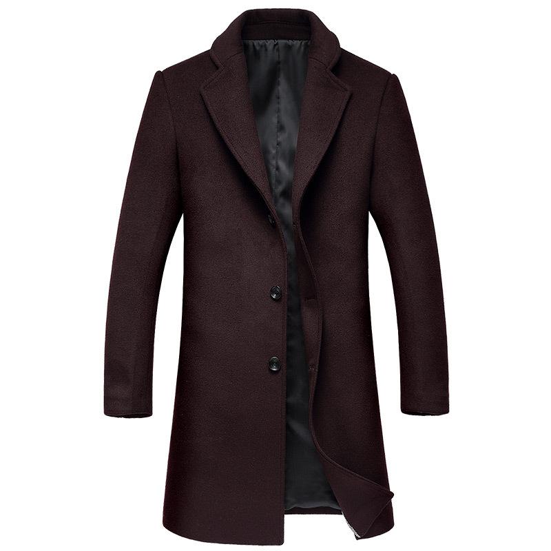 ¥158 羊毛 大衣呢子大衣男中长款