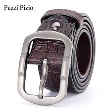 ¥49 柏芝斐乐(PazziPizio)男士皮带真皮针扣鳄鱼纹腰带复古休闲潮流时尚新款