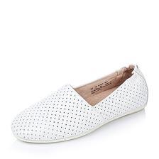 ¥239 HushPuppies/暇步士 白色光面牛皮女单鞋W1K01AQ6