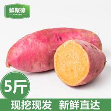 ¥14.8 17年新鲜现挖红薯农家自种富硒地瓜水果山芋黄心5斤无公害生番薯