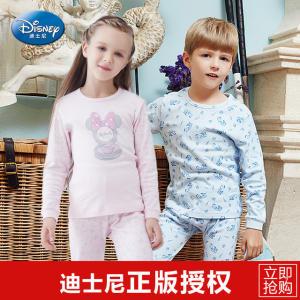 迪士尼 儿童纯棉 保暖内衣套装 40元包邮 第二件半价