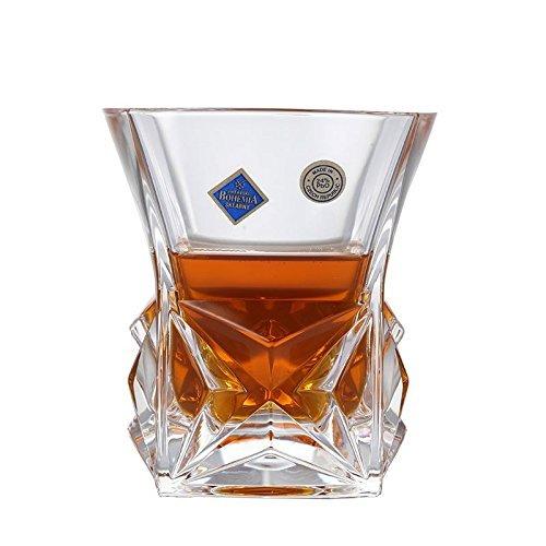 Crystalite Bohemia 波希米亚 金字塔系列威士忌酒杯单只装93K82/280 水晶玻璃透明威士忌杯洋酒杯 2只价 139元