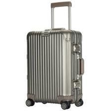 银座(GINZA TRAVEL)AL-0025K 铝镁合金拉杆箱 男女通用万向轮金属箱 20英寸 钛