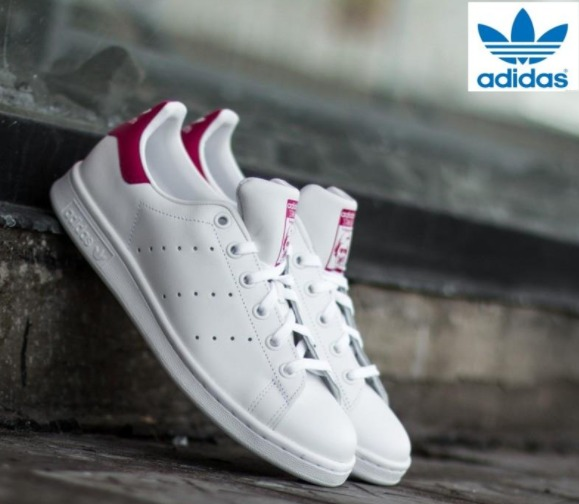 折合191.94元 成人可穿!Adidas Originals 三叶草 Stan Smith C Little Kid 大童款粉尾运动鞋