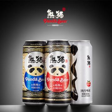 40元独家券!熊猫王精酿啤酒 12度 330ml*24听 4块钱一听的精酿啤酒 7.1折 ¥99