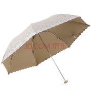 天堂伞 梦幻花蕾亚光绒色胶 三折超轻绣花晴雨伞 *2件 45.9元(2件5折)'