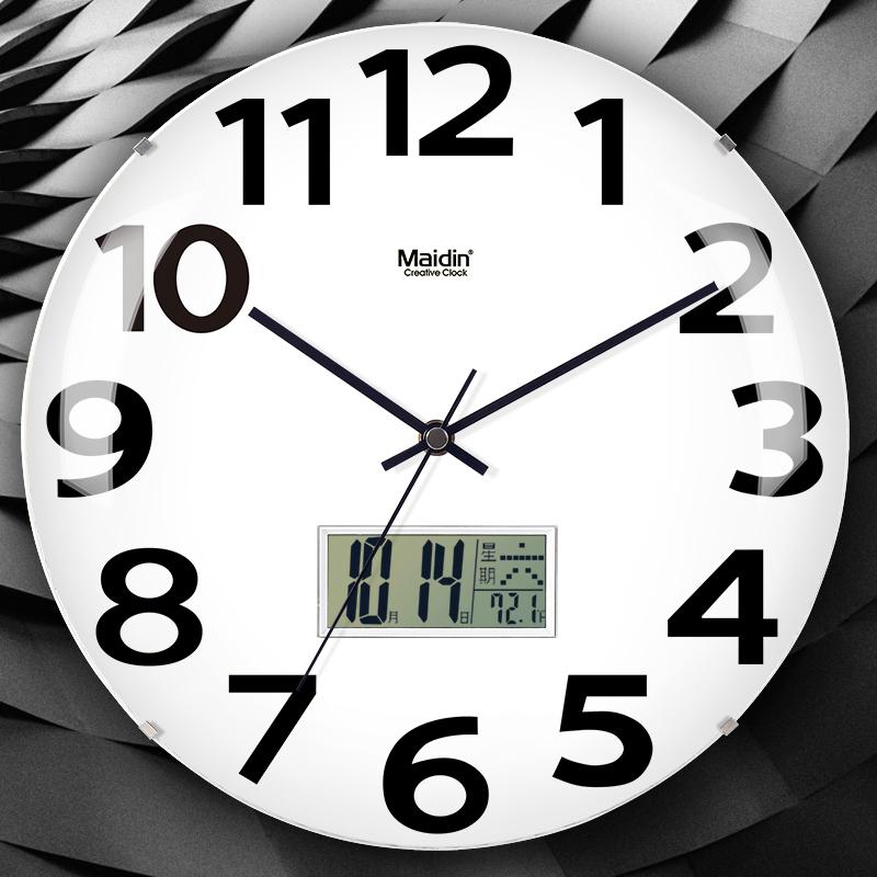 ¥19.9 简约无边框钟表 玻璃挂钟