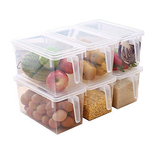 成琳 日式冰箱收纳盒 六个装 有内格3个+无内格3个99元