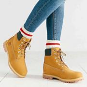 Timberland 天木兰6寸 Premium WP Boot 大童款防水经典工装靴 4.7折 直邮中国 EUREUR69.9(¥482)'