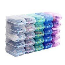 加厚大号水晶鞋盒 10只装 可放下高跟鞋 带卡槽 79元包邮 合7.9元/个