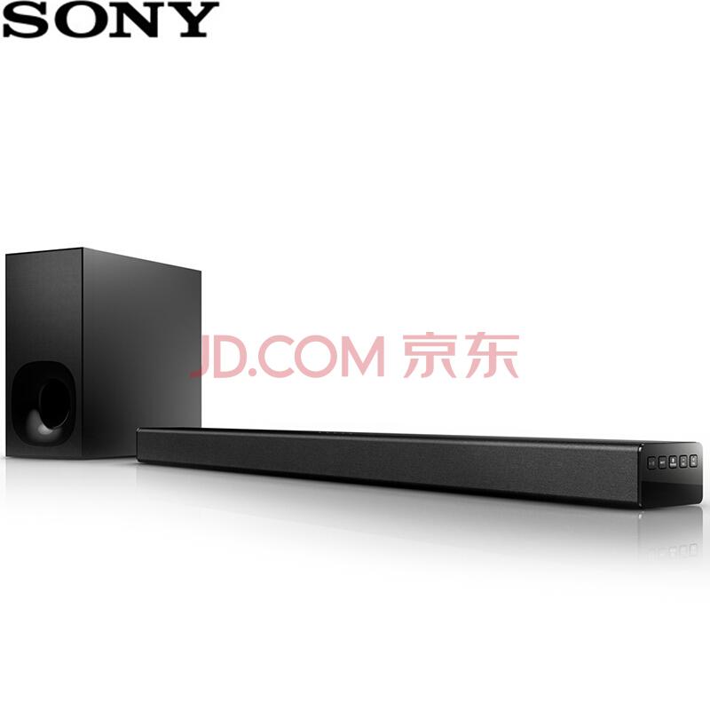 SONY索尼 HT-CT180 音响 家庭影院 电视音响 2.1声道 无线蓝牙/NFC 回音壁音响 黑色1199元