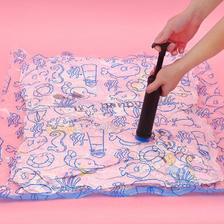 真空衣物压缩袋被子收纳袋大号棉被抽气袋加厚衣服打包袋满送电泵 1.9元