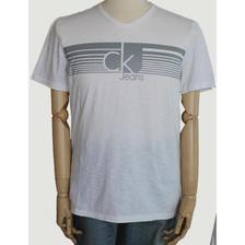 ¥37.9 Calvin Klein 卡尔文·克莱恩 男士V领logo水印字母短袖t恤