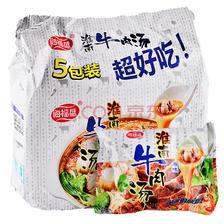 ¥9.9 海福盛 酸辣方便粉丝 淮南牛肉汤(原味)五连包装 非油炸 红薯粉 袋