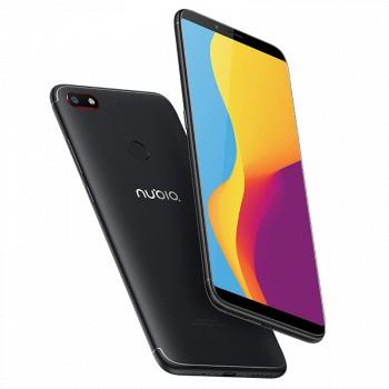 新机预定!努比亚V18全面屏4G+64G手机 送耳机 1299元包邮 十级美颜