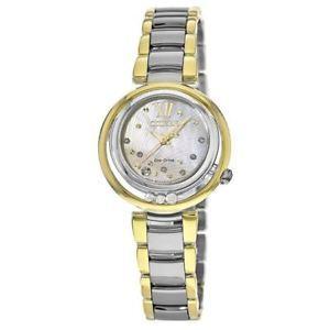 折合2219元 CITIZEN 西铁城 Sunrise 花语风吟系列 EM0324-58D 女士光动能腕表