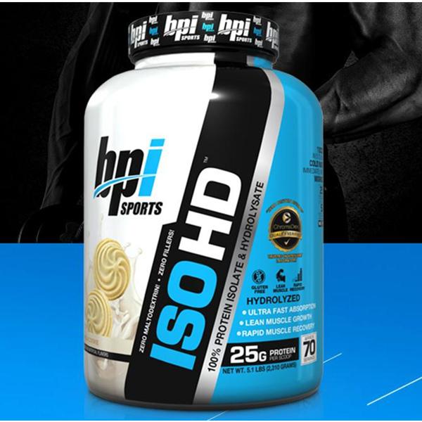 低脂肪低糖!BPI ISO-HD 分离乳清蛋白粉 5磅/桶 399元包邮(需用券)