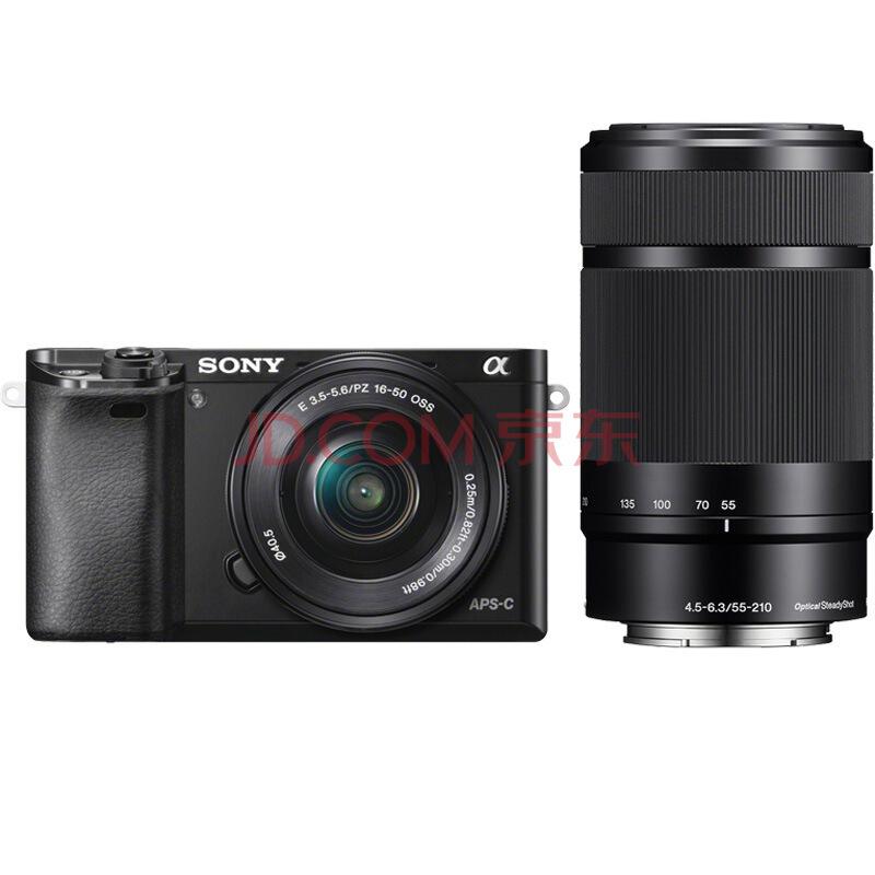 索尼(SONY) ILCE-6000L APS-C双镜头超长焦段微单套机 黑色(2430万有效像素 4799元