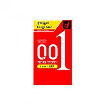 新版冈本001超薄避孕套 大号L码 3个装 7.2折 JPY¥698(¥36)